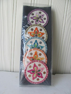 5 CHINESE EMBROIDERY DISC  Laloba People 100% Homemade  Silk???