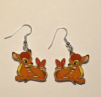 Bambi Earrings Butterfly on Bambi's Tail Charms