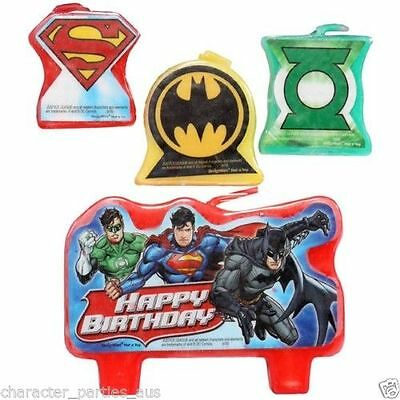 Justice League Superman Batman Birthday Party Supplies Character Cake Candle Top