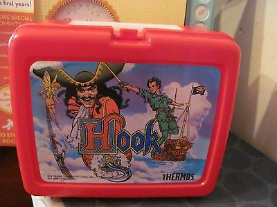 Hook 1991 vintage plastic Lunchbox NO THERMOS