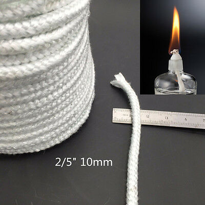 "Thick 2/5"" DIY Fiberglass Wick [Buy10Free5] Alcohol Oil Lamp Tiki Torch Candle"