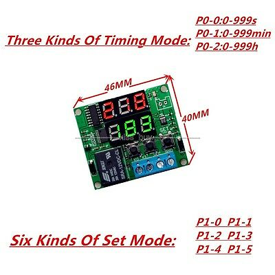 12V Digital LED cycle timing delay Time Timer relay Module clock Controller
