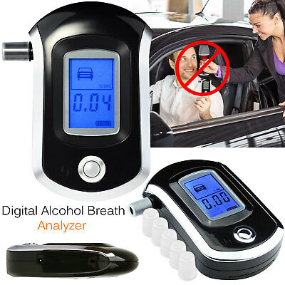 Police Digital Car Breath Alcohol Analyzer Tester Breathalyzer Test Detector LCD