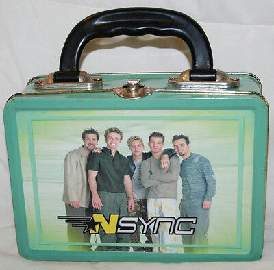 "7"" 2000 Nsync Tin Metal Lunch Box"