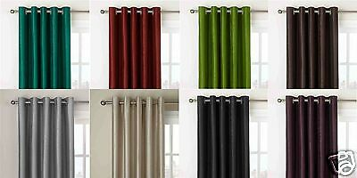 """90"""" x 108"""" inch Extra Very Long Drop Curtain Faux Silk Fully Lined Eyelet"""