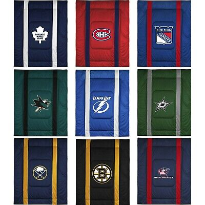 NHL Hockey Comforter - Sports League Logo Bedding Teen Bedroom - Pick Your Team