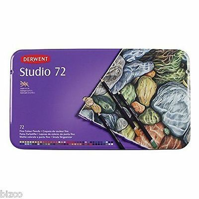 Derwent Studio Colour Pencils Full Set of 72 in Tin Box ( Made in UK ) NEW