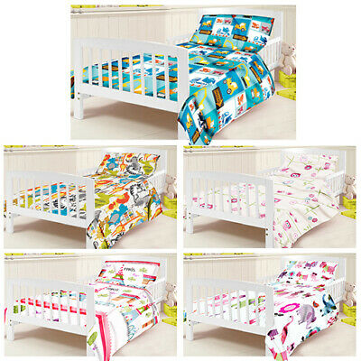 Childrens Junior Cot Bed Duvet Cover & Pillowcase Set Nursery Baby Toddler Kids