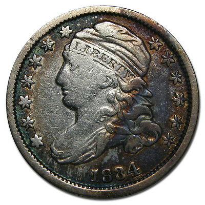 1834 Capped Bust Dime 10¢ Coin Lot# MZ 1813