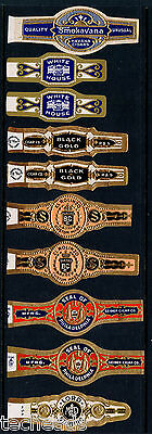 CIGAR BANDS -  (10) ANTIQUE PREMIUM - MINT VF-XF (Never Used)