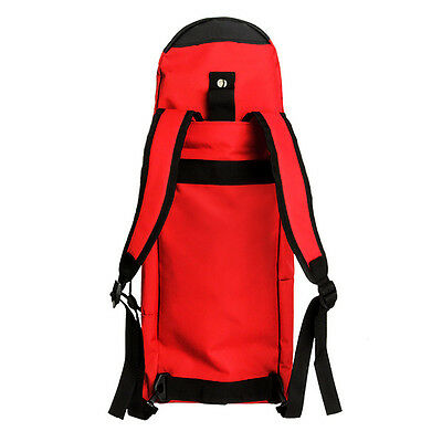 Skateboard Backpack Longboard Cruiser Board Carry Travel Outdoor Sports Bag RED