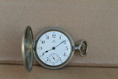 Rare Antique Vintage Old Swiss Made Omega Grand Prix Full Hunter Pocket Watch.