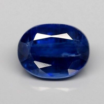 Only! $15.05/1pc 8x6mm Oval Natural Untreated Royal Blue Kyanite, Sri-Lanka