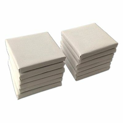 10pcs Mini Stretched Artists Canvas Small Art Board Acrylic/Oil Paint 4X4 Inch
