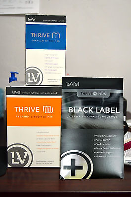 Le-Vel Thrive Men Pack - Vitamins, Black DFT Patches and Vanilla Shakes