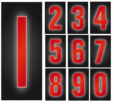 Reflective Red Wheelie Bin Self Adhesive Numbers Stickers Home Office Hotels