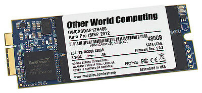 480GB OWC Aura Pro 6G Solid State Disk for 2012 MacBook Pro with Retina display