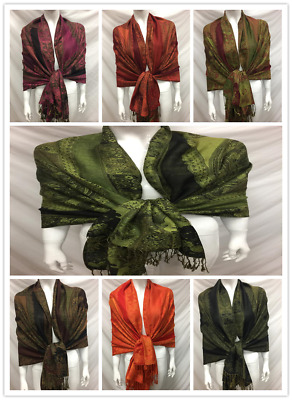 Wholesale 6Pcs $3.50 Each 2Ply Thick Pashmina Style Wrap Scarf Paisley