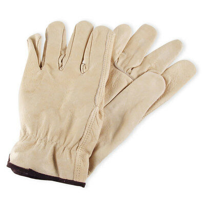 Mens Cowhide Leather Work Gloves by Wells Lamont - Y0135 - M