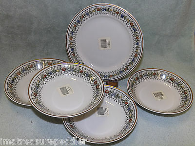 Syracuse O.P.CO China Dinnerware Somerset Bread Plate & Fruit Bowls 5 pc lot