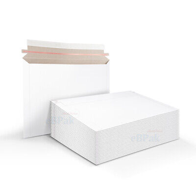 50 A4 Size Card Mailer 235x325mm 300gsm White Envelope - Tough Bag Replacement