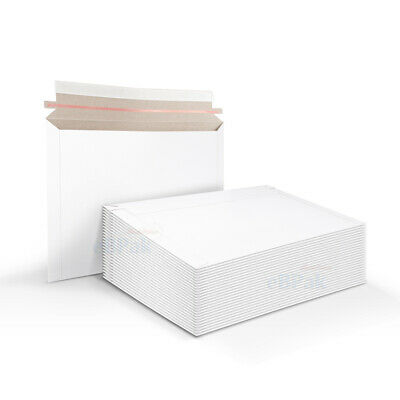 50x Card Mailer A4 Size 235x325mm 300gsm White Envelope - Tough Bag Replacement