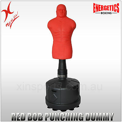 Red Bob Human Xl Boxing Punching Bag - Adjustable Height - Free Standing Dummy
