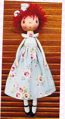 PATTERN - Blossom - cute little cloth doll PATTERN - Annie Smith Designs