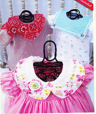 CLEARANCE   - Quilted Baby Collars - Cute PATTERN - 8 styles, 6 embellishments