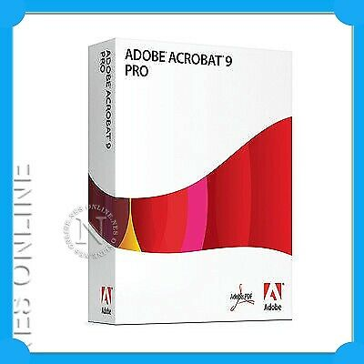 Adobe Acrobat 9.0 Professional Full Version for WINDOWS *EDUCATION Version*