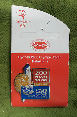 #P278.  200  Days  To Go   Sydney 2000 Olympic  Torch Relay Pin