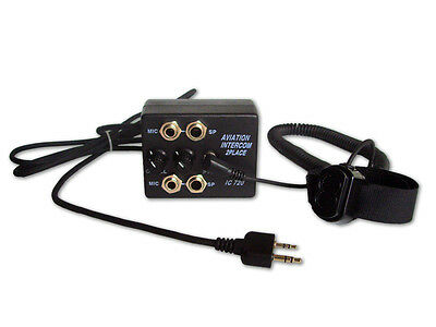 SkyLite AIC20P Aviation Aircraft Intercom w/ PTT for ICOM, Bendix/King