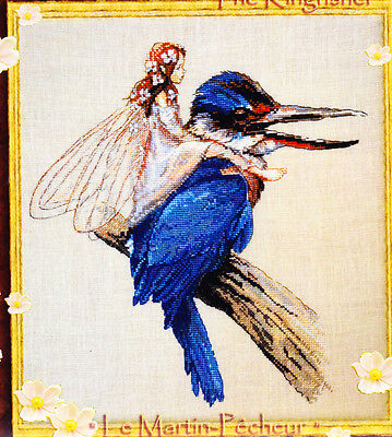 Le Martin Pecheur  (the Kingfisher) - sweet fairy cross stitch chart - Nimue