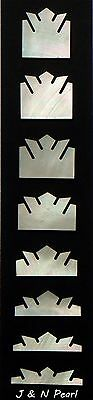Mother of Pearl Fingerboard Crown Inlay Set for Gibson Style Guitars