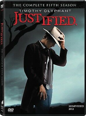 JUSTIFIED :  Complete Fifth Season (2014) DVD / 3 Disc Set / FREE SHIPPING