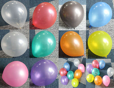 100Pcs Colorful Pearl Latex Balloon Celebration Party Wedding Birthday 12 inch