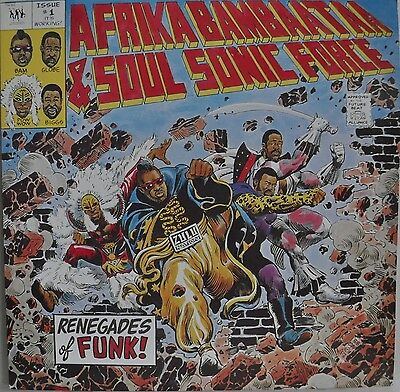 Afrika Bambaataa & The Soulsonic Force Renegades Of Funk Japan EP Sony Insert