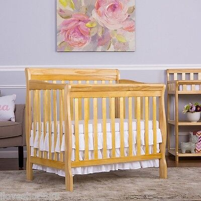 Dream On Me 3 in 1 Convertible Mini Crib Changer Day Bed Baby Toddler Twin Wood
