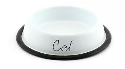 Lesser And Pavey Home Sweet Home White Metal Cat Bowl Lp27894