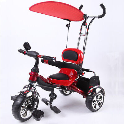 Kyootsi Smart Trike Baby Tricycle Kids 3 Wheel Bike with Handle - Red