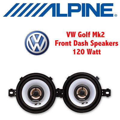 "VW Golf Mk2 II 1983-1995 - 8cm 3.5"" 3-1/2 Inch Front Dash Speakers Upgrade Kit"