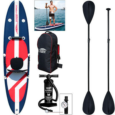 Bestway Stand up Paddle Surfboard Sup 335cm aufblasbar Boot Kajak Pumpe Paddel