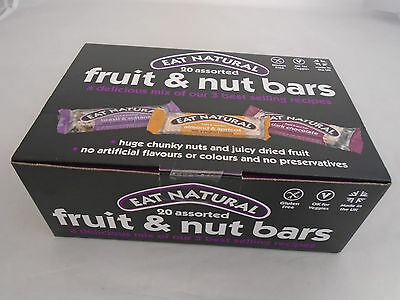 Eat Natural Bars Assorted Fruit And Nut Box 20 Bars Gluten Free New & Boxed