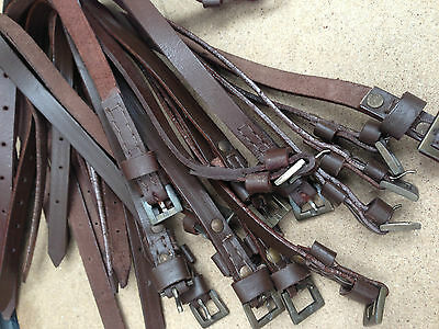 """15"""" - 60"""" Tough Leather Straps with Brass & Nickel Buckles Leather Crafts"""