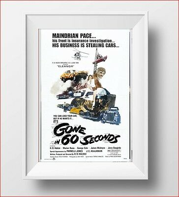 Gone In 60 Seconds Poster Retro Huge : #207646