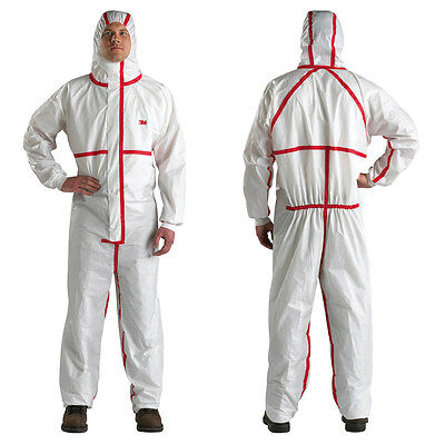 3M Disposable Chemical Protective Hooded Coverall - 4565 - Large