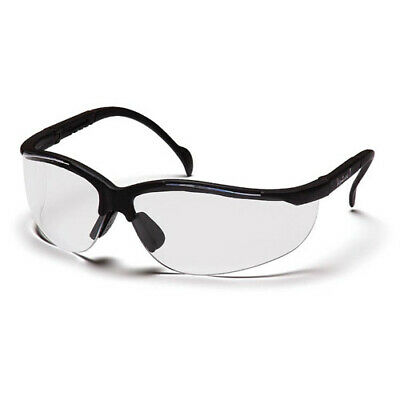 Pyramex Venture II Black Frame Safety Glasses w/ Clear Anti-Fog Lens