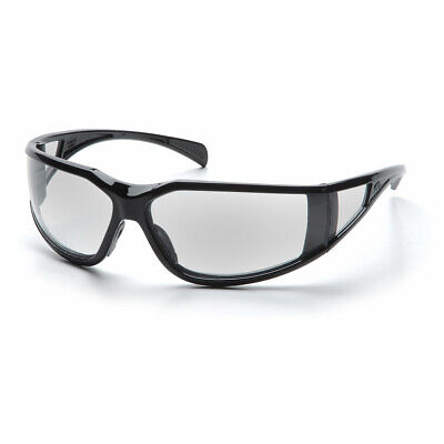Pyramex Exeter Glossy Black Frame Safety Glasses - Exeter w/ Clear Anti-Fog Lens