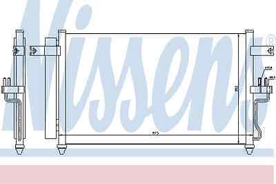 Nissens Condenser 94904 Fit with Hyundai Accent