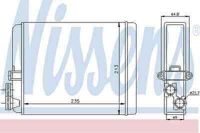 Nissens Heat Exchanger 73641 Fit with Volvo S80